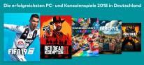 Verkaufscharts: Deutschland: Top 20 des Jahres 2018: FIFA 19 vor Red Dead Redemption 2 und Mario Kart 8 Deluxe