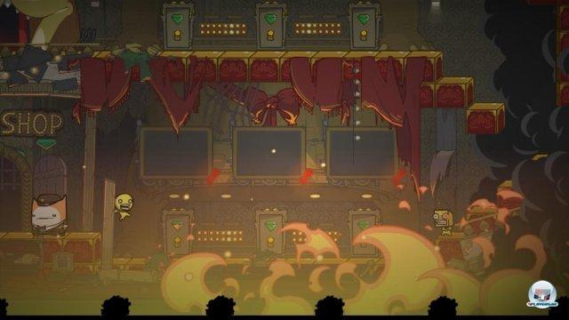 Techno-Katzen und ein Running-Man-Verschnitt auf der Bühne: Die Story klingt, als sei sie aus dem Fiebertraum eines Entwicklers entsprungen.