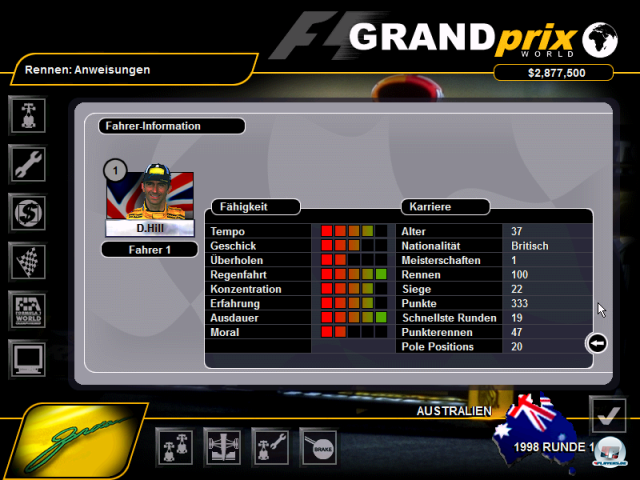 Screenshot - Grand Prix World (PC)