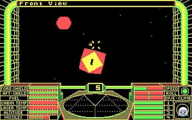 Die Landeanflüge auf die Raumstationen sind legendär (PC, 1987).