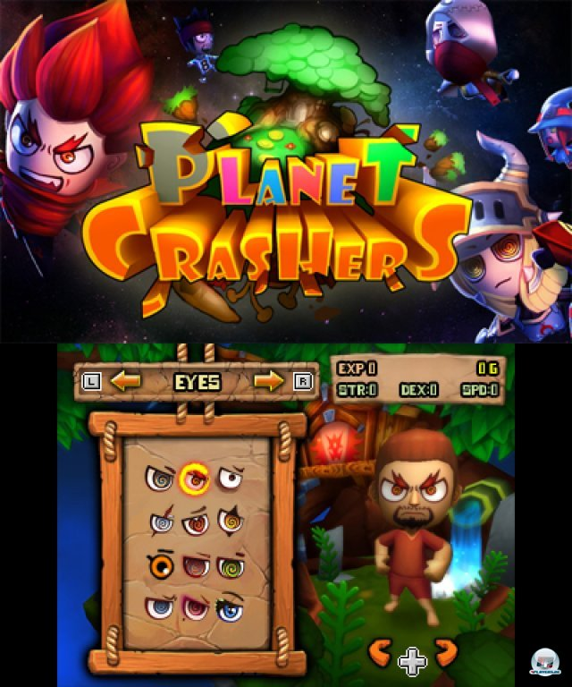 Screenshot - Planet Crashers (3DS)