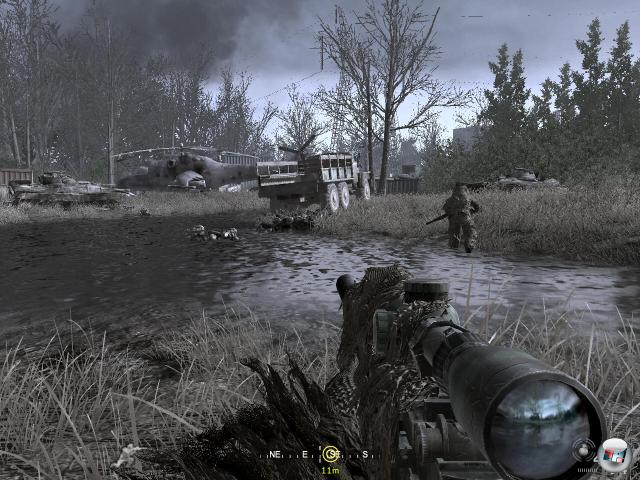 Die in der Vergangenheit spielende »Schleichmission« in Tschernobyl gehört zu den Highlights des an dramatischen Aufträgen nicht gerade armen CoD 4.