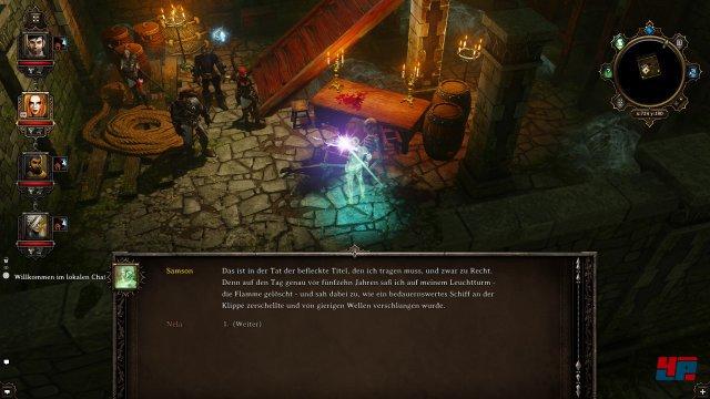 Im Keller des Leuchtturms erzählt euch ein Geist seine Leidensgeschichte.