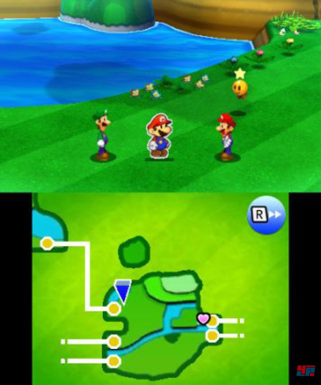 Aus dem Helden-Duo wird ein Trio: Paper Mario erg�nzt das Klempner-Team und bringt eine neue taktische Komponente in die Gefechte.