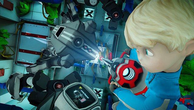 Auch Boss-Roboter müssen ab und zu ausgetrickst werden.