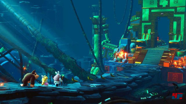 Screenshot - Mario   Rabbids Kingdom Battle - Donkey Kong Adventure (Switch)
