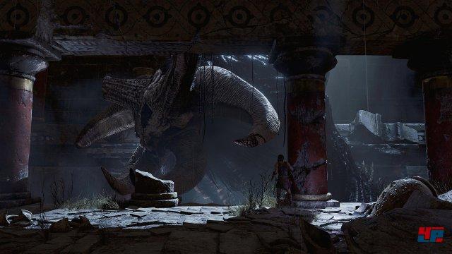 Die Begegnungen mit dem Minotaurus gehören zu den wenigen dramaturgischen Höhepunkten.