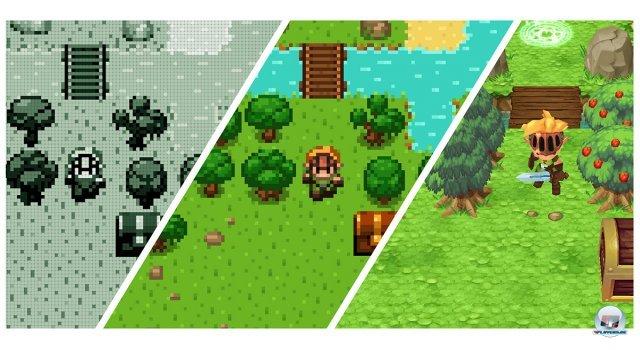 Im Zentrum steht die Evolution des Action-Adventures, die man mit seinem Held erspielt.