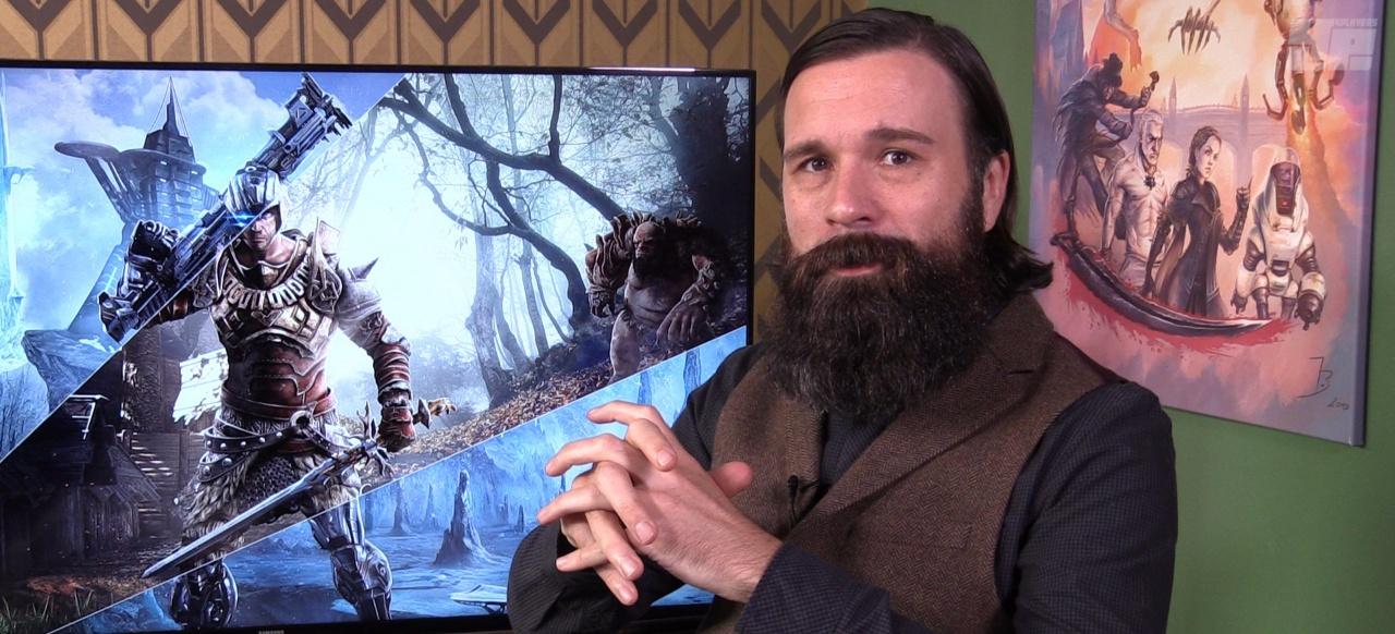 """Jörg spricht über das """"Environmental Storytelling"""" in der Endzeit von Piranha Bytes."""