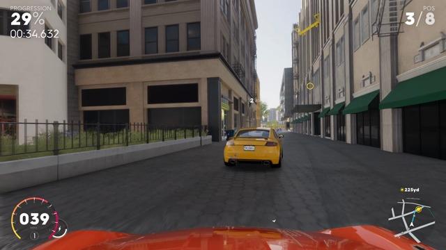 Exklusive Spielszenen: Das erste Straßenrennen (Xbox One X)
