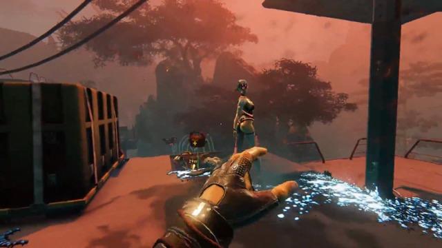 Spielszenen Cyber Wang und Chainsaw Katana